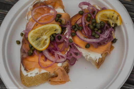 Cap'n Mike's San Francisco Lox Sandwich