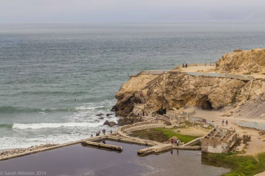 View of Sutro Baths from Louis'
