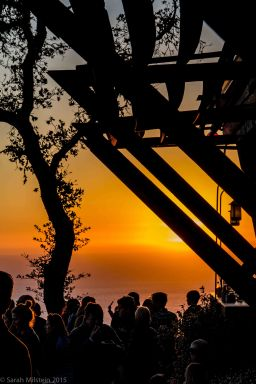Sunset at Nepenthe in Big Sur