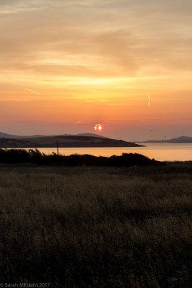 Sunset facing Xifara Beach